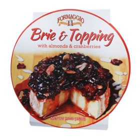 Formaggio Brie with Topping (16 oz.)