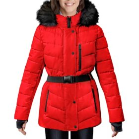 London Fog Women's Belted Puffer Jacket