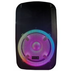"""Edison Professional + EN-1800 Tornado High Power 15"""" PA Speaker with LED Lighting and LED Lighting Stand"""