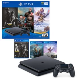 1TB Slim System with God of War, Horizon: Zero Dawn, The Last of Us (PlayStation 4)