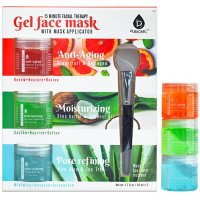Pursonic Gel Face Mask 3-pack, Anti-Aging + Moisturizing + Pore Refining