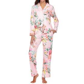 Flora Women's 2-Piece Notch Collar Pajama Set