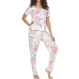 Flora Ladies 2-Piece Pj Set