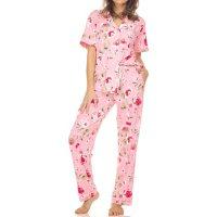 Flora Ladies Short Sleeve Notch Collar PJ Set 2-Piece