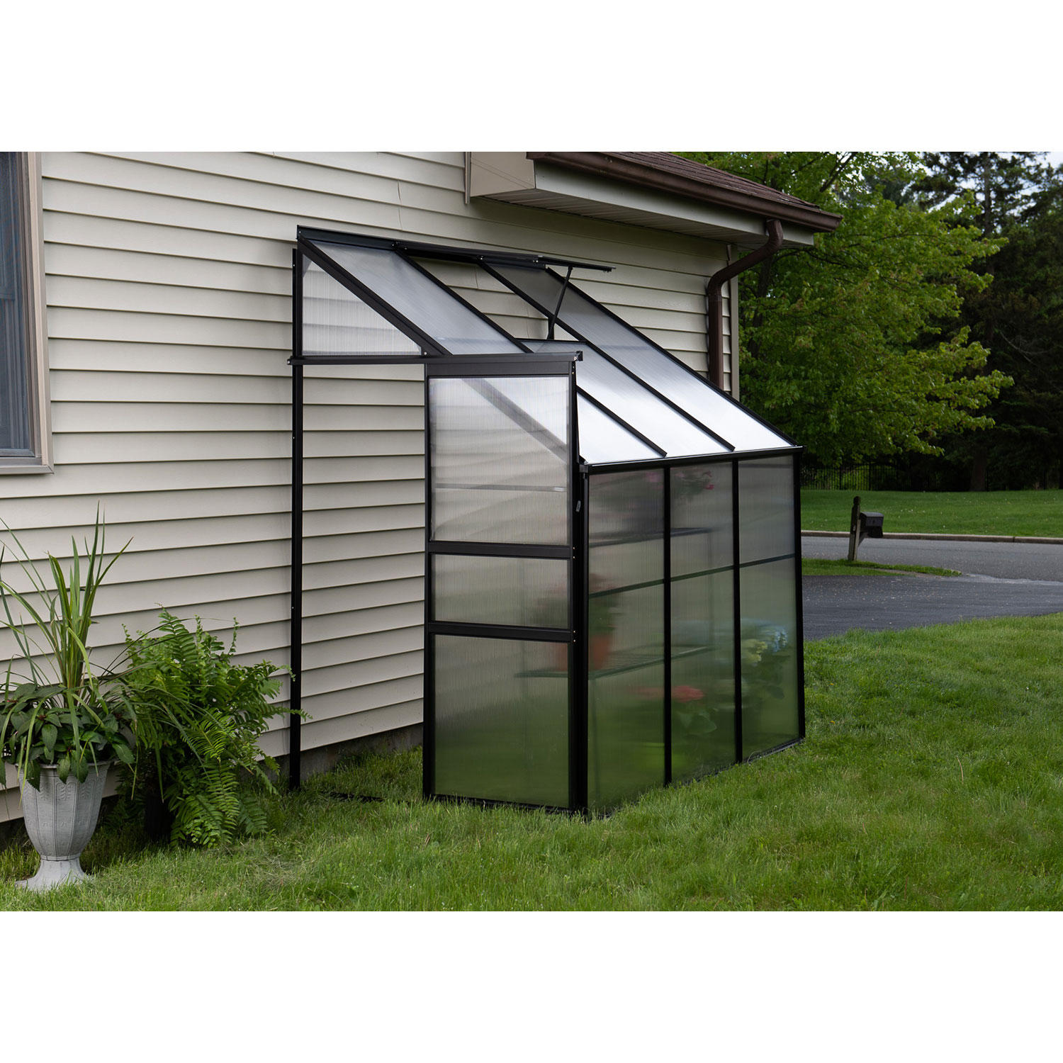 OGrow Aluminum Lean-To Greenhouse