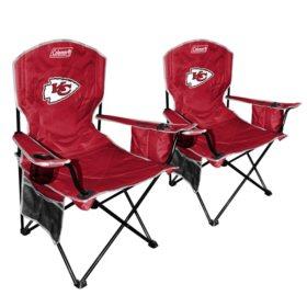 Awe Inspiring Nfl Kansas City Chiefs Cooler Quad Chair 2 Pack Sams Club Bralicious Painted Fabric Chair Ideas Braliciousco
