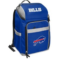 Rawlings Official NFL Soft-Sided Backpack Cooler, 32-Can Capacity - Buffalo Bills