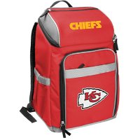 Rawlings Official NFL Soft-Sided Backpack Cooler, 32-Can Capacity - Kansas City Chiefs