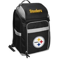Rawlings Official NFL Soft-Sided Backpack Cooler, 32-Can Capacity - Pittsburgh Steelers