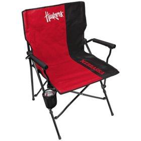 Rawlings Official NCAA Hard Arm Tailgate Chair - University of Nebraska