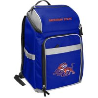 Rawlings Official NCAA Soft-Sided Backpack Cooler, 32-Can Capacity - Savannah State University