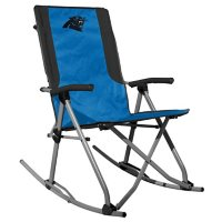 Rawlings Official NFL Foldable High Back Tailgate Rocking Chair - Carolina Panthers