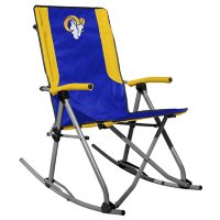 Rawlings Official NFL Foldable High Back Tailgate Rocking Chair - Los Angeles Rams