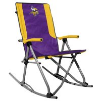 Rawlings Official NFL Foldable High Back Tailgate Rocking Chair - Minnesota Vikings