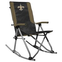 Rawlings Official NFL Foldable High Back Tailgate Rocking Chair - New Orleans Saints