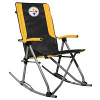 Rawlings Official NFL Foldable High Back Tailgate Rocking Chair - Pittsburgh Steelers