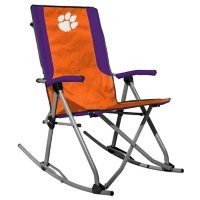 Rawlings Official NCAA Foldable High Back Tailgate Rocking Chair-Clemson University