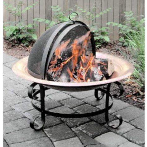 """Scroll Copper Fire Pit - 30"""""""