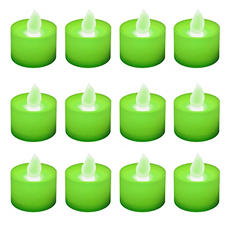 12 ct. LED Flickering Lights Flameless Candles - Green