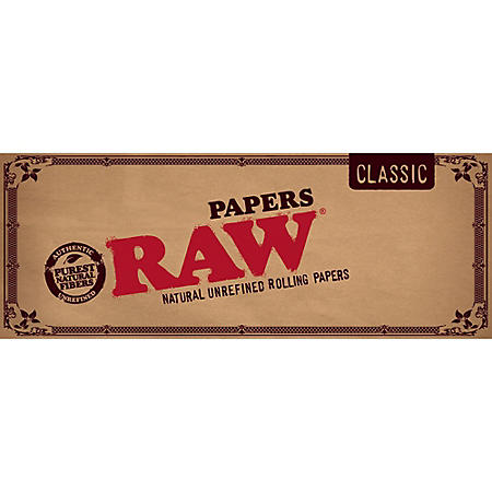 Raw 1 1/4 Rolling Papers (50 papers, 24 ct.)