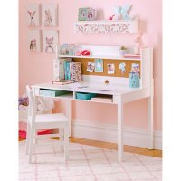 Martha Stewart Living and Learning Kids' Desk with Hutch and Chair, Assorted Colors