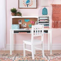 Kid's Media Desk With Hutch and Chair, Assorted Colors