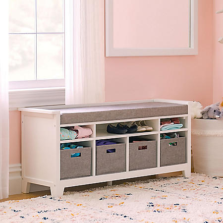 Martha Stewart Living and Learning Kids' Storage Bench, Assorted Colors