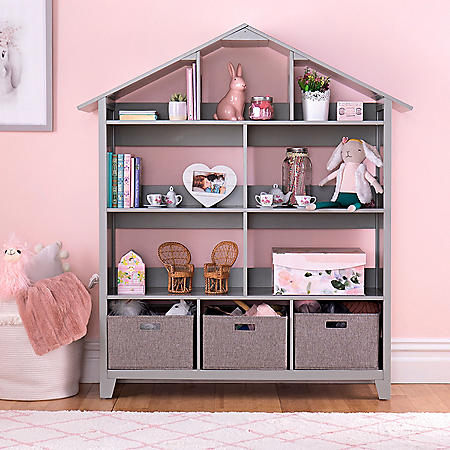 Martha Stewart Living and Learning Kids' Dollhouse Bookcase, Assorted Colors
