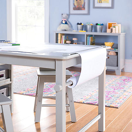 Martha Stewart Living and Learning Kids' Art Table and Stool Set, Assorted Colors
