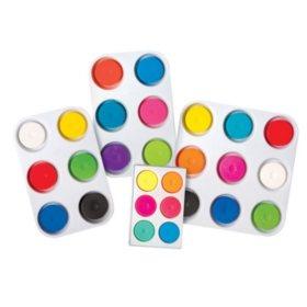 Jack Richeson Tempera Paint Cake Set, Assorted Colors, Set of 9