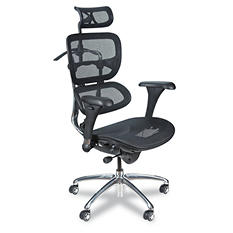 BALT Ergonomic Executive Butterfly Mesh Chair, Black