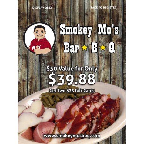 Smokey Mo's BBQ - 2 x $25