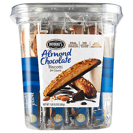 Nonni's Almond Chocolate Biscotti (31.2 oz., 24 ct.)