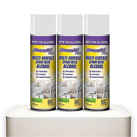 Sacato Multi-Surface Spray with Alcohol, Lemon (3 pk.)