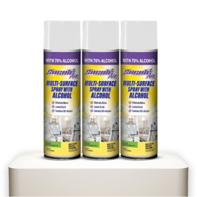 Sacato Multi-Surface Spray with Alcohol, Lemon (3 pk.)