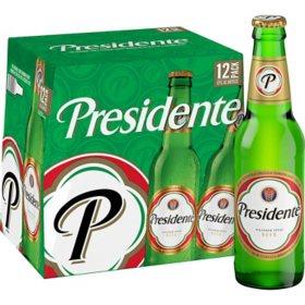 Presidente Pilsner Beer (12 fl. oz. bottle, 12 pk.)