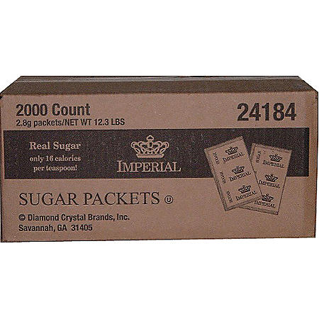 Imperial Pure Cane Sugar Packets - 2,000 ct.