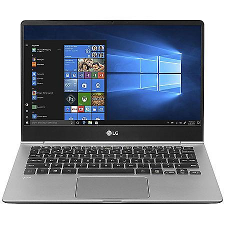 "LG - gram - 13.3"" Full HD Ultra-Slim Touchscreen Laptop - 8th Gen Intel Core i5 - 8GB Memory - 256GB M.2 SSD - Backlit Keyboard -Windows 10 Home (64bit)"