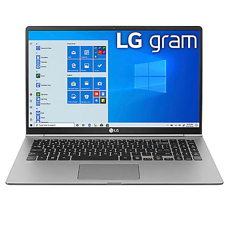 "LG - gram - 15.6"" Full HD Ultra-Lightweight Laptop - 10th Gen Intel Core i5 - 8GB Memory - 256GB M.2 SSD - Backlit Keyboard - Windows 10 Home"