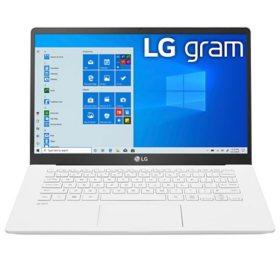 "LG - gram - 14"" Full HD Ultra-Lightweight Laptop - 10th Gen Intel Core i5 - 8GB Memory - 256GB M.2 SSD - Intel Iris Plus Graphics - Backlit Keyboard - Windows 10 Home (64bit)"