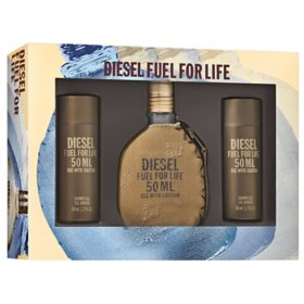 Diesel Fuel for Life Men's Cologne 3 Piece Gift Set