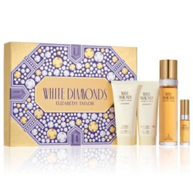 Elizabeth Taylor White Diamonds Women's Fragrance 4 Piece Gift Set