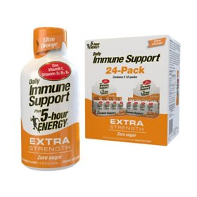 5-hour ENERGY Shot Extra Strength, Daily Immune Support plus, Ultra Orange (1.93 oz., 24 pk.)