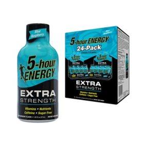 5-hour Energy Shot, Extra Strength Blue Raspberry (1.93 fl. oz., 24 ct.)
