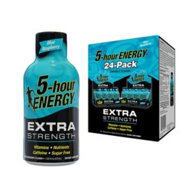5-hour ENERGY Shot, Extra Strength, Blue Raspberry (1.93 oz., 24 pk.)