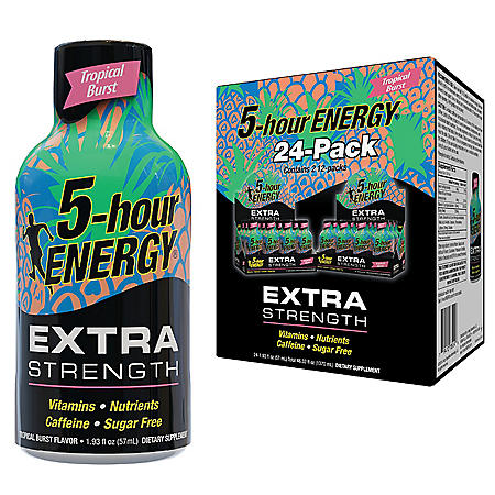 5-hour ENERGY Shot, Extra Strength, Tropical Burst (1.93 oz., 24 pk.)