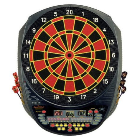 Electronic Dartboard with Interactive Heckler