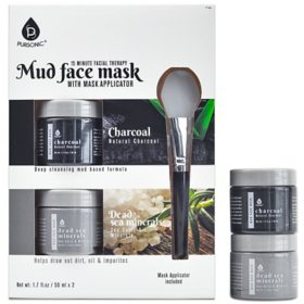 Pursonic Mud Face Mask 2-pack, Charcoal  + Dead Sea Minerals