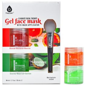 Pursonic Gel Face Mask 2-pack, Anti-Aging and Moisturizing