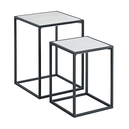 Square Accent Tables, Set of 2